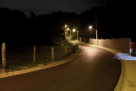 Área total pavimentada no empreendimento foi de 10.200 metros quadrados