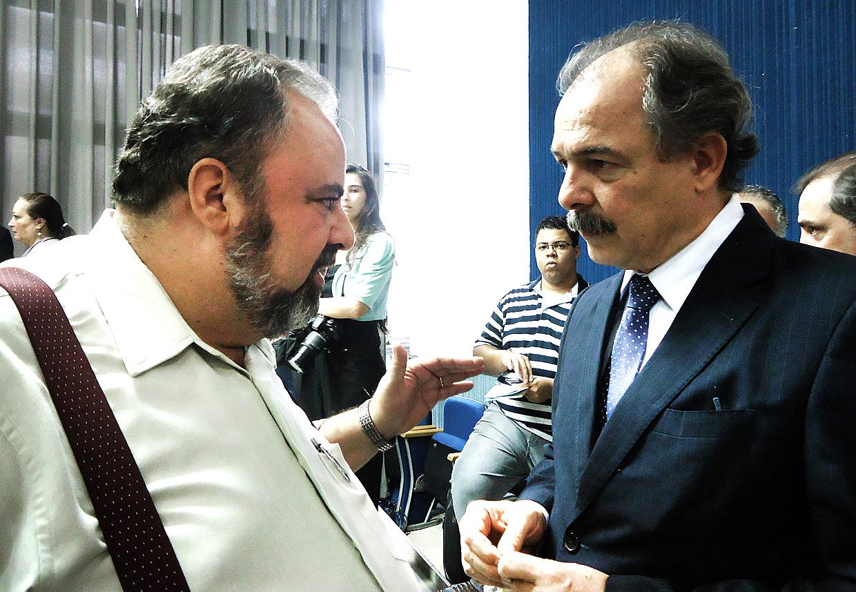 Orlato foi recebido por Mercadante, em São Paulo
