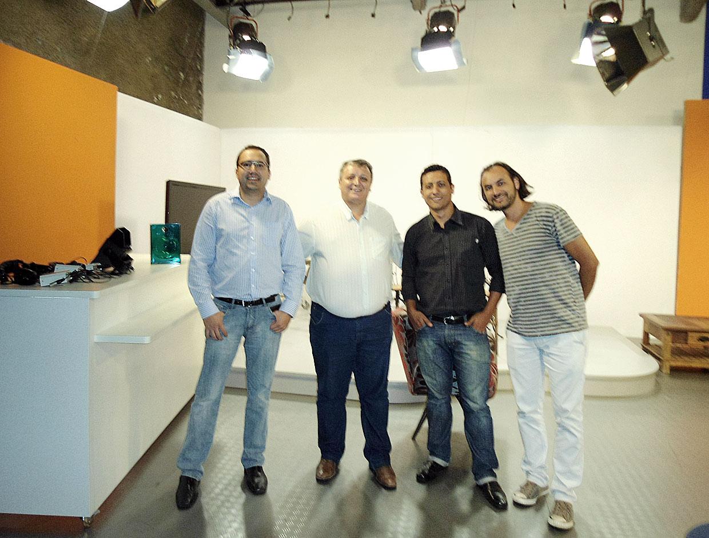 Thiago Godinho, Trapp, José Batista e Wendell na TV Educativa de Jundiaí