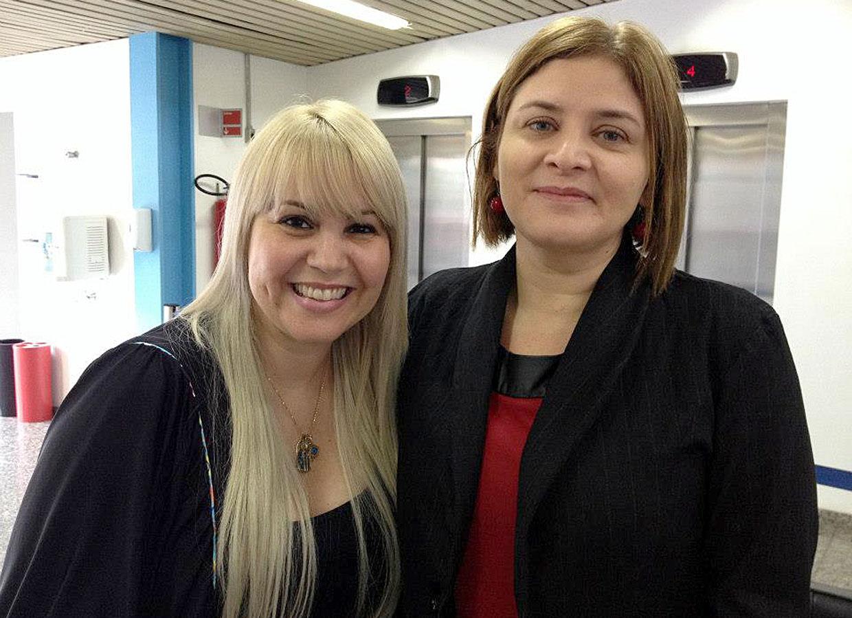 Mônica Barranqueiros e Denise Dau, da Coordenadoria de São Paulo