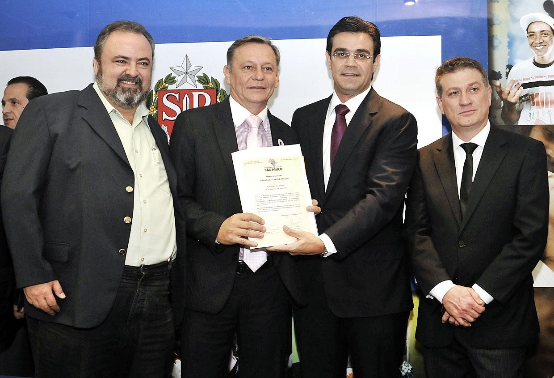Durval Orlato, Pedro Bigardi, Rodrigo Garcia e o deputado Beto Trícoli