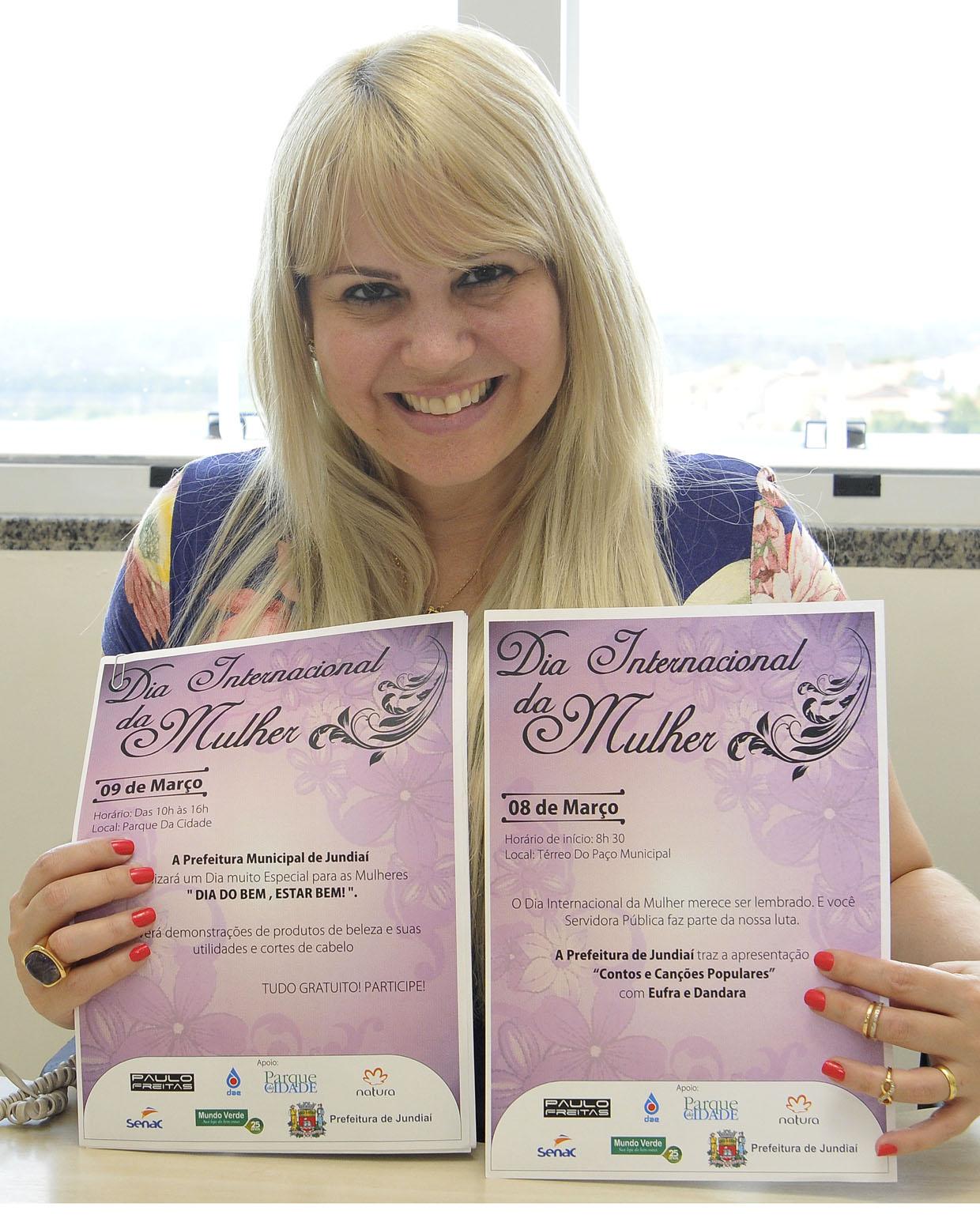 Mônica Barranqueiros, responsável pela Coordenadoria da Mulher, organiza os eventos