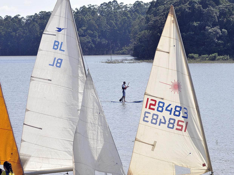 As regatas de vela e caiaque fizeram parte da comemoração