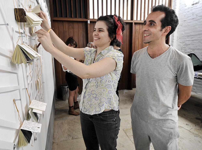 Renato Hofer agregou o trabalho produzido no workshop à exposição