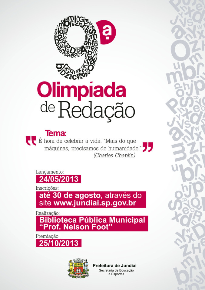 A Olimpíada é aberta a todos interessados que moram em Jundiaí e região