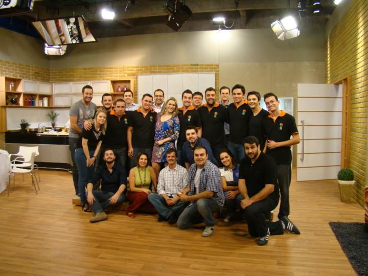 Equipe da TVE responsável pela nova programação