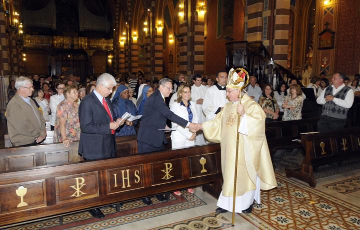 Igreja ficou tomada por fiéis