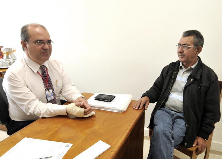 Reinaldo Fernandes e José Adair trocam experiências