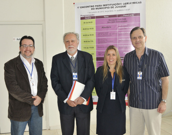Alexandre, Gerson Vilhena, a médica Adriana e José Trad Neto