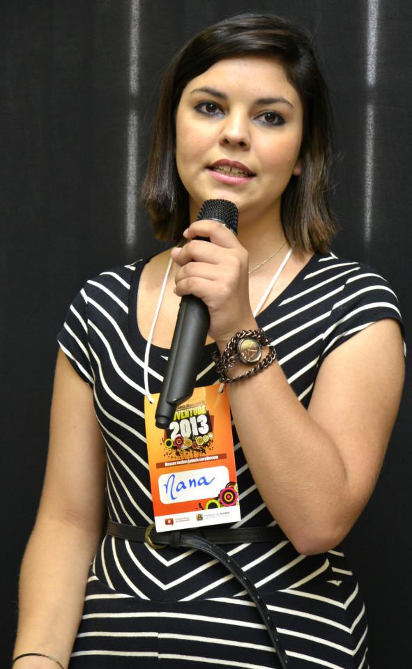 Coordenadora durante Conferência da Juventude, no início do mês