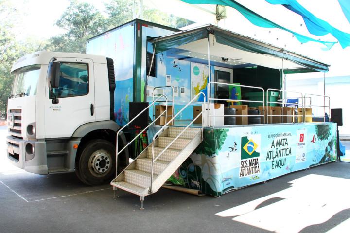 Caminhão da SOS Mata Atlântica estará no Jardim Botânico