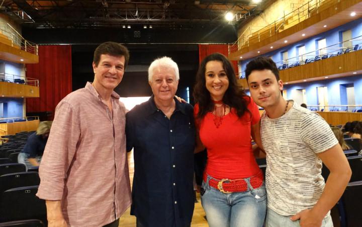 Tércio, Maluly, Carla e Caio, durante audição em Jundiaí