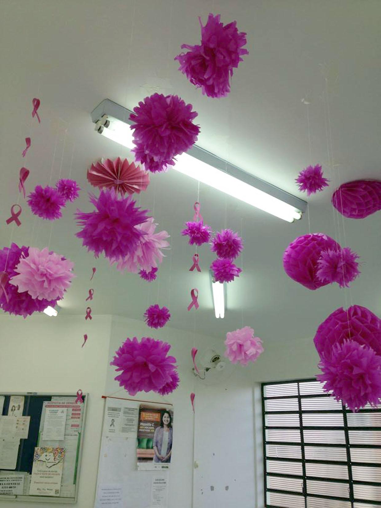 Outubro Rosa movimenta unidades de saúde em Jundiaí Notícias -> Decoração Mesa Outubro Rosa