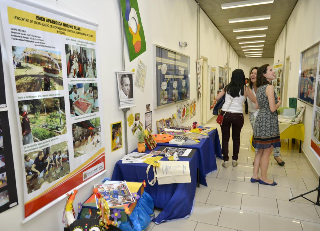 Exposição reuniu trabalho realizado pelas Emebs de tempo integral