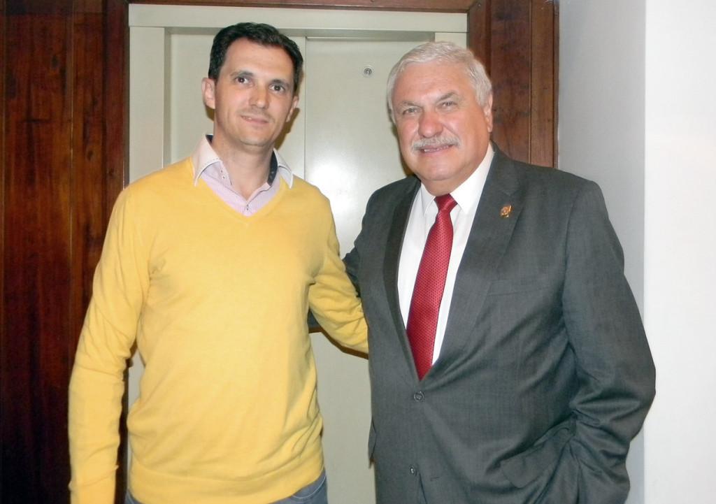Secretário Aguinaldo Leite foi recebido por Marcelo Palacios