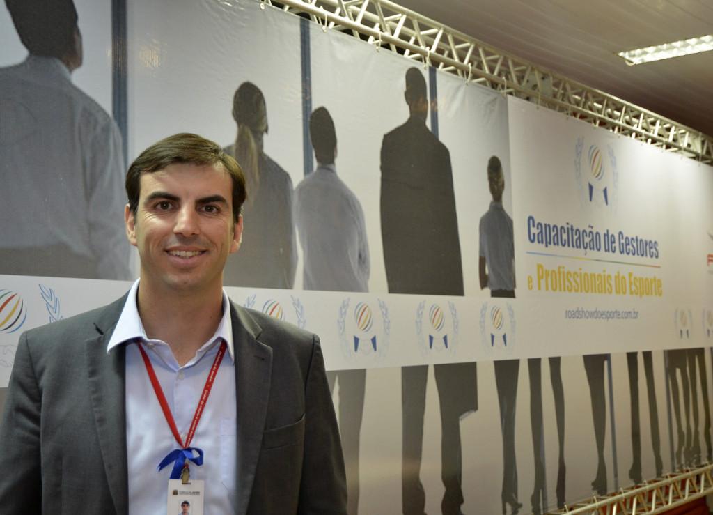 O secretário Cristiano Lopes durante a abertura do Road Show do Esporte
