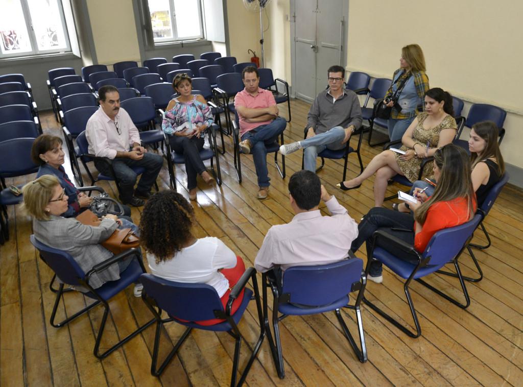 Organizadores se reuniram no Museu: solidariedade