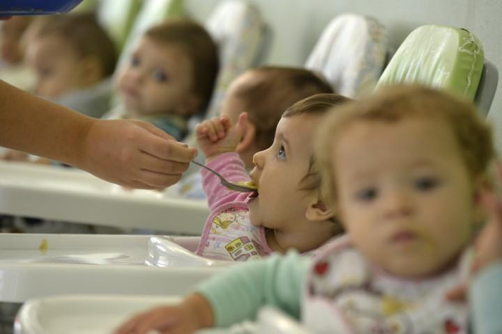 Creches atendem crianças de quatro meses a três anos de idade