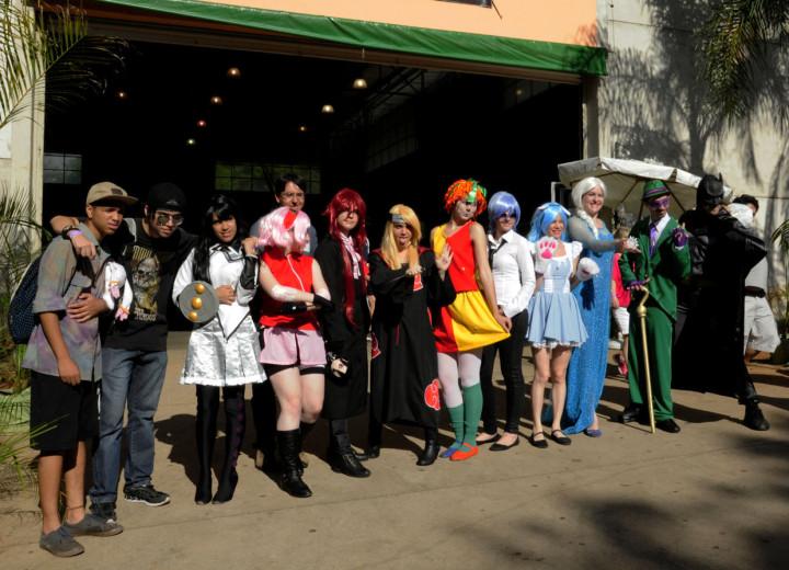 Galera do cosplay chamou a atenção do público