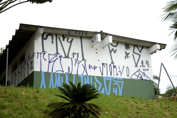 No sábado, o local será novamente pintado