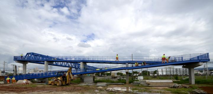 Passarela será inaugurada em abril de 2015