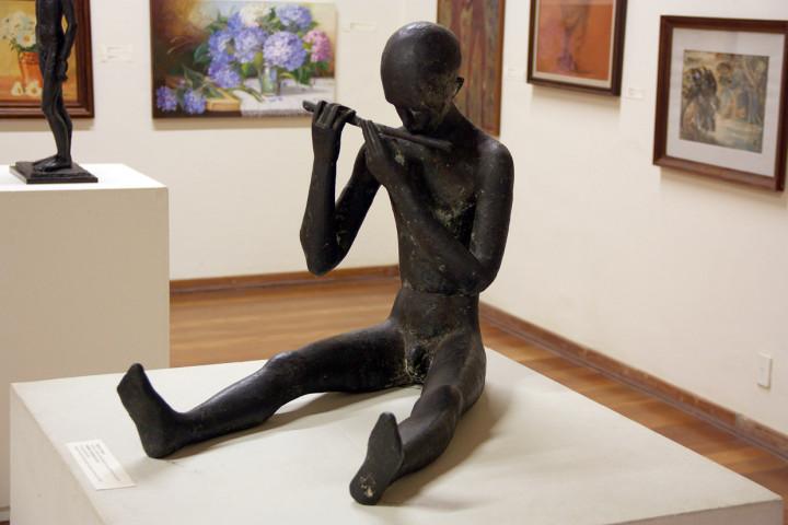 """Pinacoteca:  """"O menino tocando flauta"""", de Tereza D'Amico"""