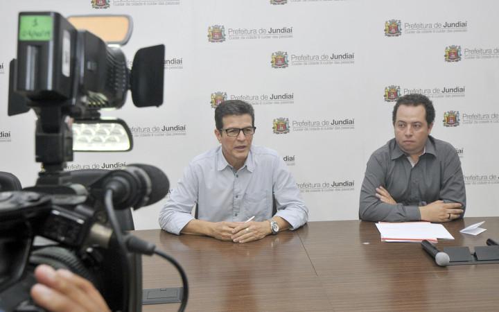 Jean e Tércio na coletiva da Virada Jundiaí: inovação