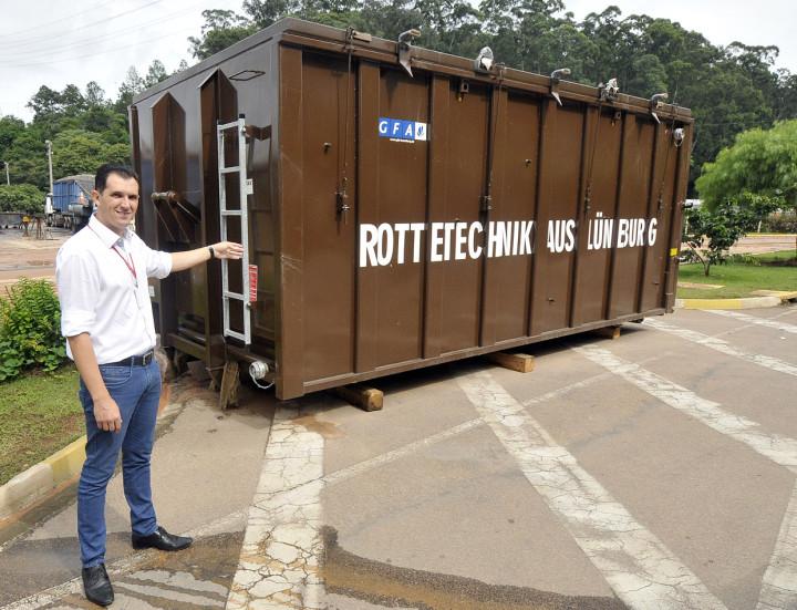 Container fará o processo de composição biológica dos resíduos