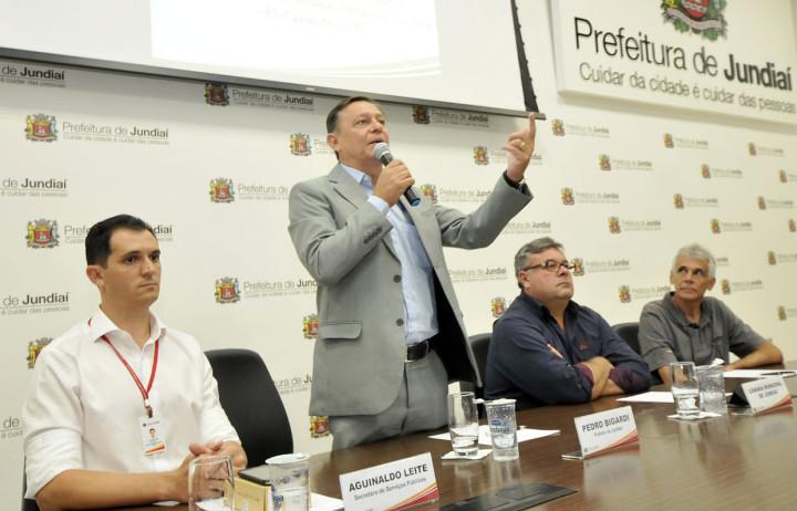 Paulo Grégio Pedro Bigardi falou das prioridades, citando conservação de espaços públicos e uso de tecnologia