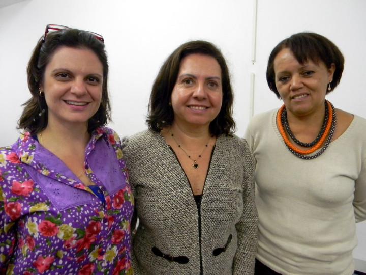 Janaina, Cida e Solange: união de forças contra o analfabetismo