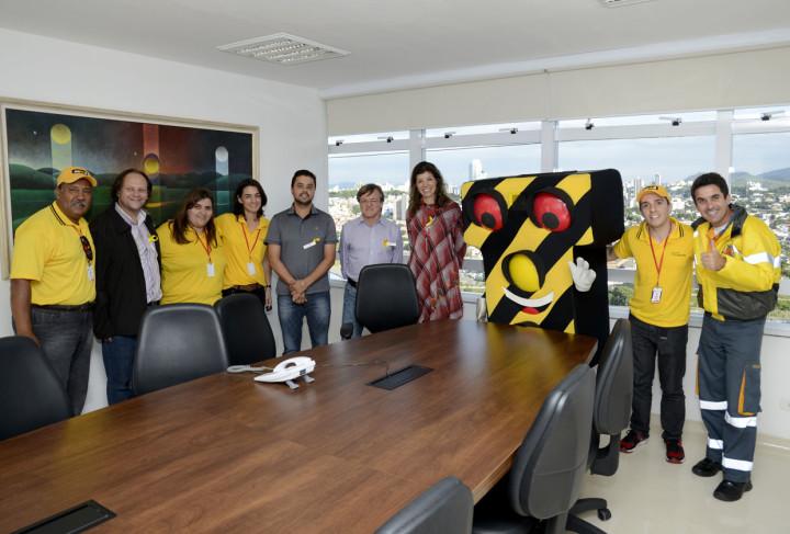 Campanha Maio Amarelo visita Paço Municipal