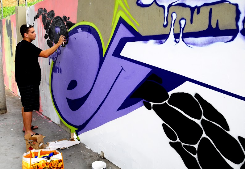 Grafite fez parte das apresentações na Virada Jundiaí