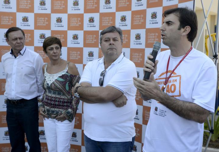 Pedro inaugurou o novo espaço com Margarete, Sartori e Lopes