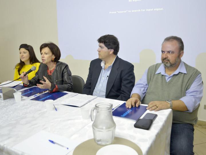 Daniela, Waldemar e Orlato abrem seminário mediados pela pesquisadora Mariângela