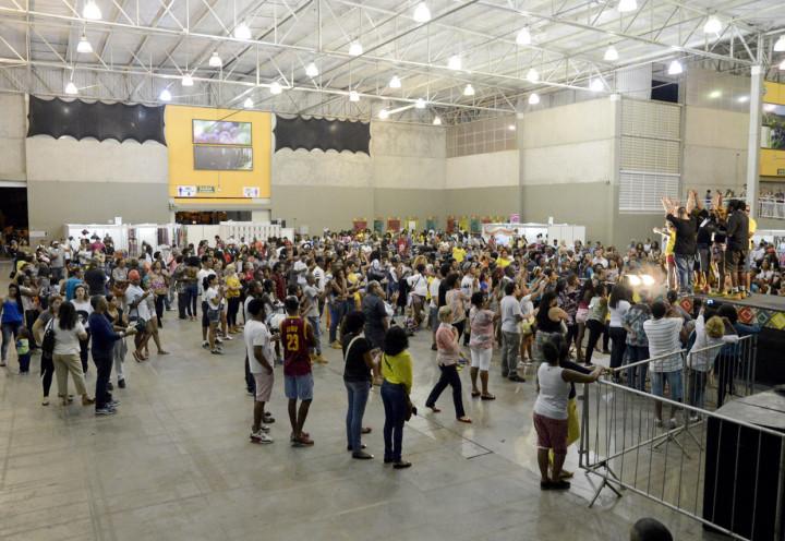 Público compareceu em grande número ao Parque da Uva