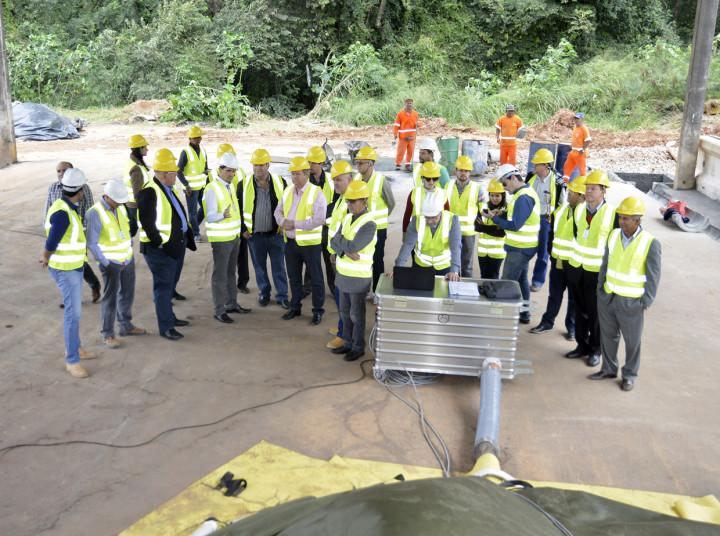 Durante a visita, Aguinaldo apresentou tecnologias instaladas no Geresol