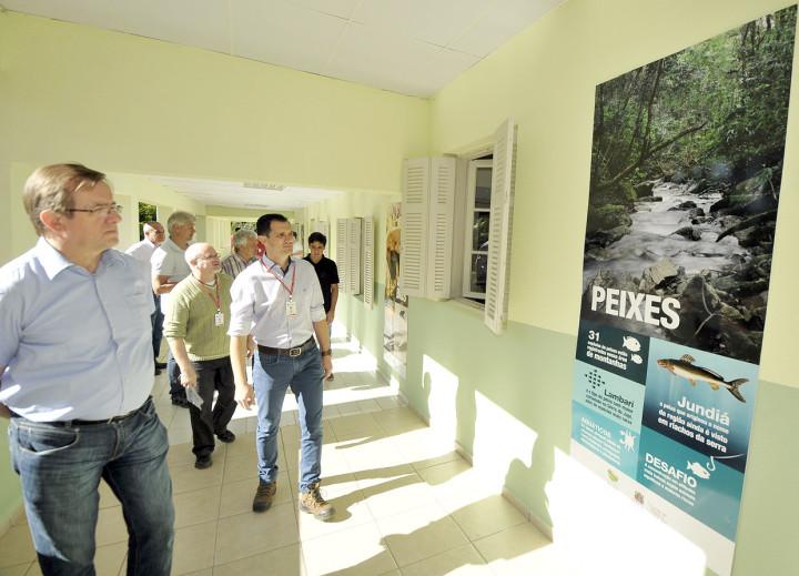 Os visitantes também estiveram na base ecológica da Serra