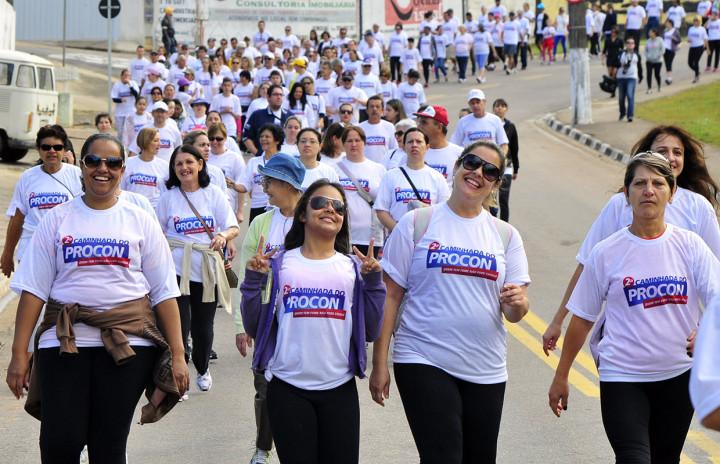 Em 2014, cerca de 550 pessoas participaram da caminhada