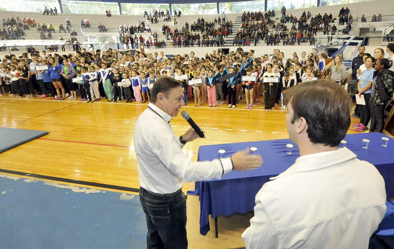 O prefeito destacou a importância do esporte para as crianças