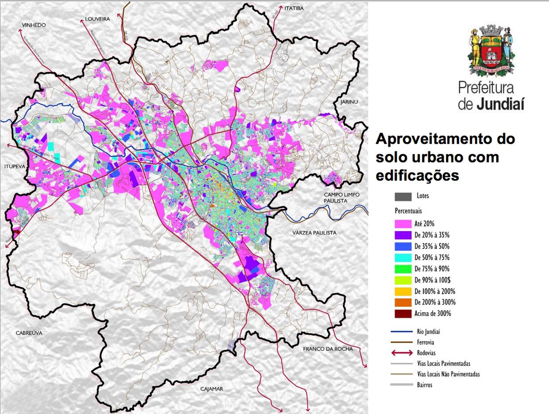 Aproveitamento do solo urbano com edificações