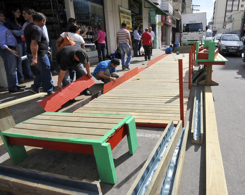 O projeto prevê um novo local de parada para pessoas que caminham no Centro