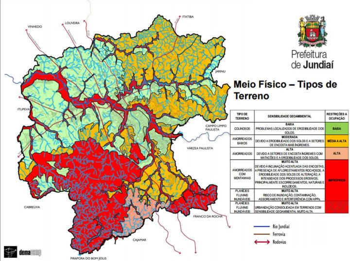 Reprodução Base ambiental de Jundiaí orientou ocupação histórica no município