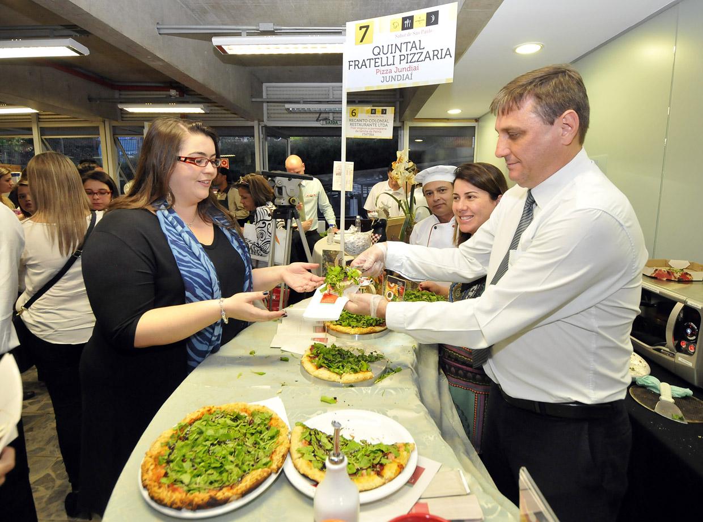 O tradicional setor de pizzas esteve representado no evento