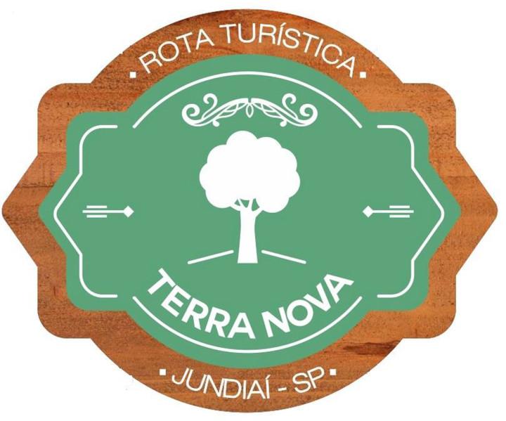 Modelo de logo aprovado na Terra Nova e em finalização na Rota da Uva