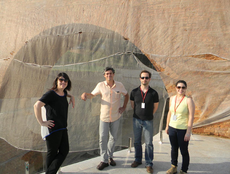 A visita à Ponte Torta observou também os trabalhos na praça e no belvedere