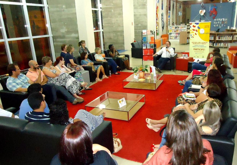 Cristovão Trezza conversou conversou com o público no período da noite