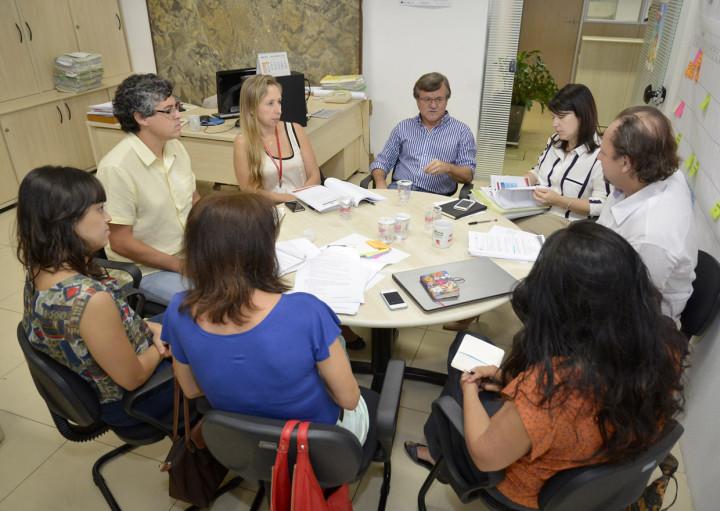Reunião técnica com equipes de Planejamento e de Transportes