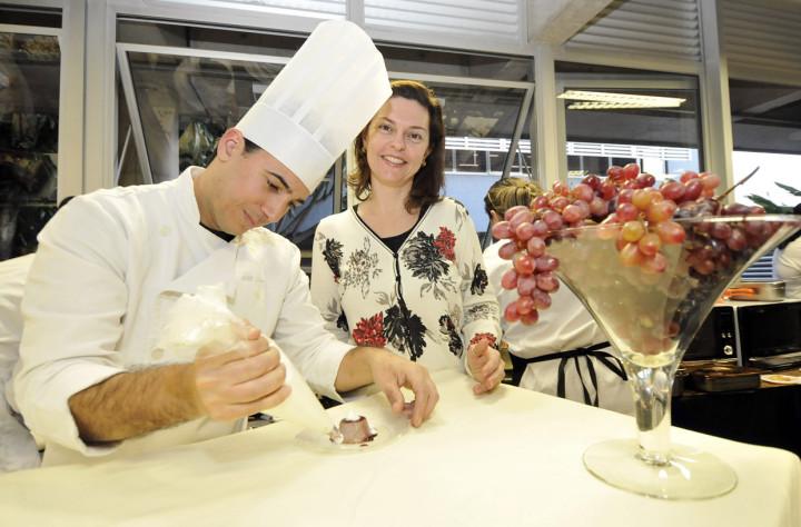 O pudim de uva com queijo mascarpone, criado para o evento, representa Jundiaí