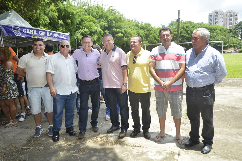 O prefeito Pedro Bigardi e o vereador Marcelo Gastaldo prestigiaram a festa