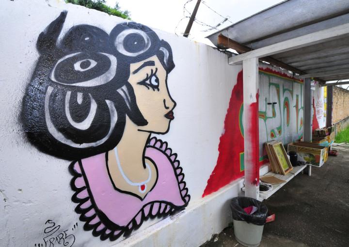 Arte muda cenário no Estação Juventude, no Complexo Fepasa